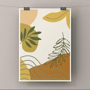 Modern minimalist boho abstract wall art print